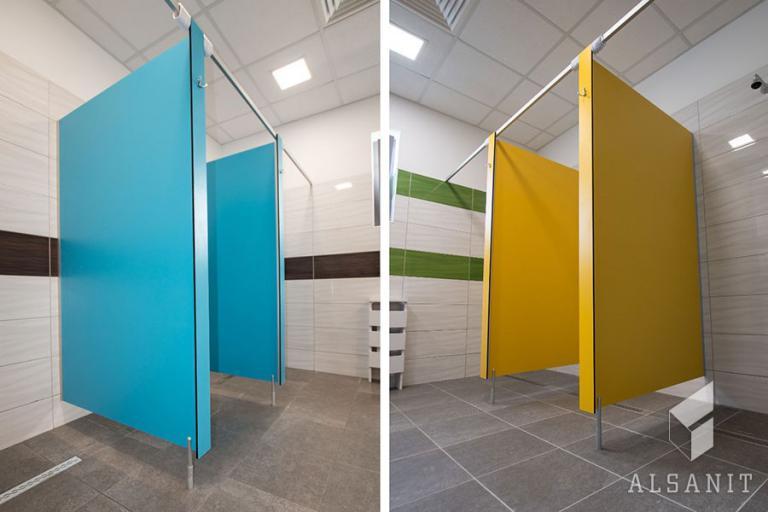 kabiny prysznicowe HPL